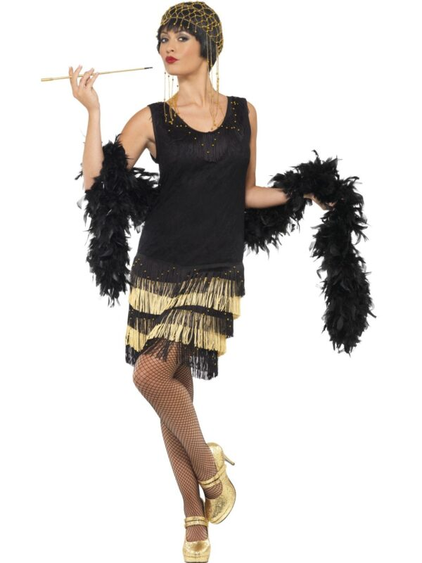 1920s Fringed Flapper Costume-1