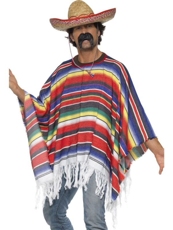 mexican multi colour poncho sunbury costumes