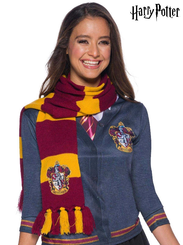 gryffindor harry potter deluxe knit scarfe sunbury costumes