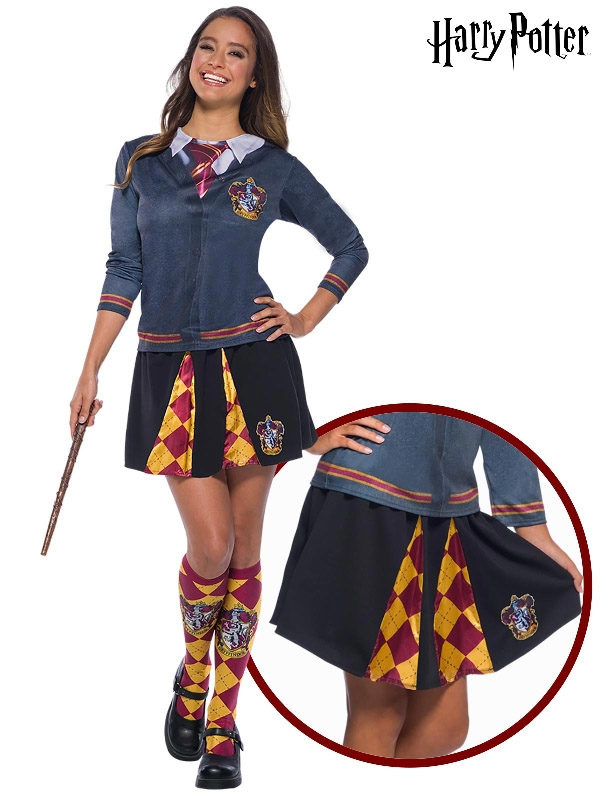 gryffindor hermione adult ladies skirt harry potter sunbury costumes