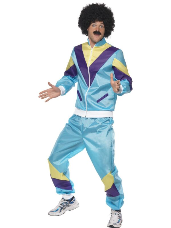 blue retro shell costume adult 80s sunbury costumes