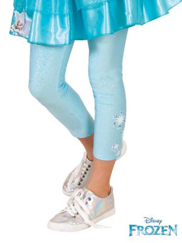 elsa frozen disney leggings child sunbury costumes