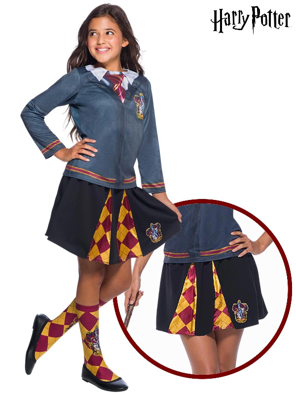 hermione gryffindor harry potter skirt costume rubies sunbury costumes