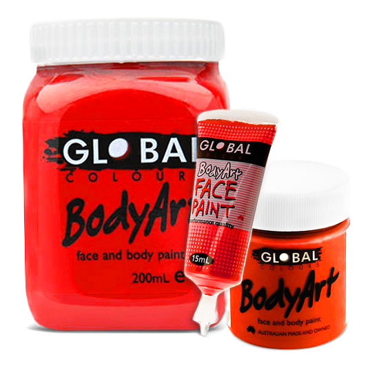 brilliant red global face body liquid paint sunbury costumes