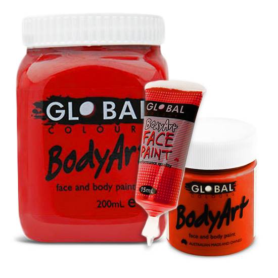 deep red global body art face body paint liquid sunbury costumes