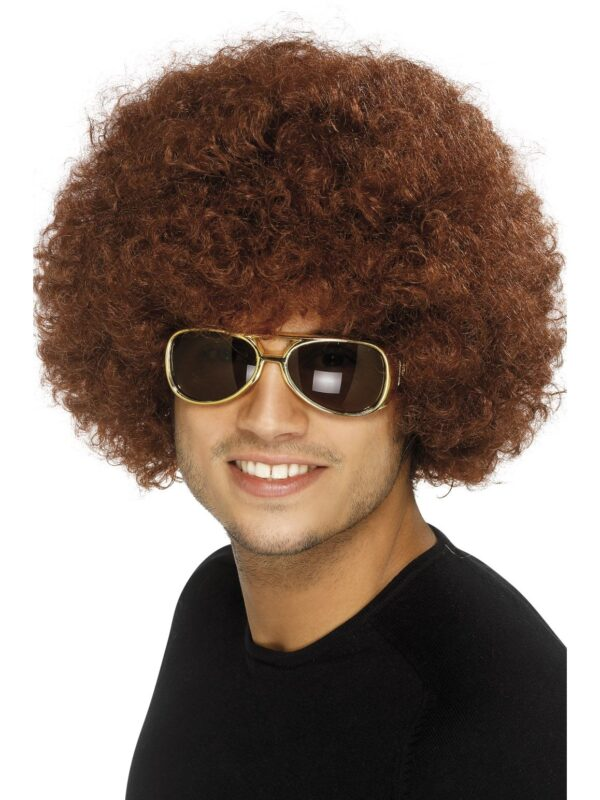 Brown 70's Funky Afro Wig Sunbury Costumes