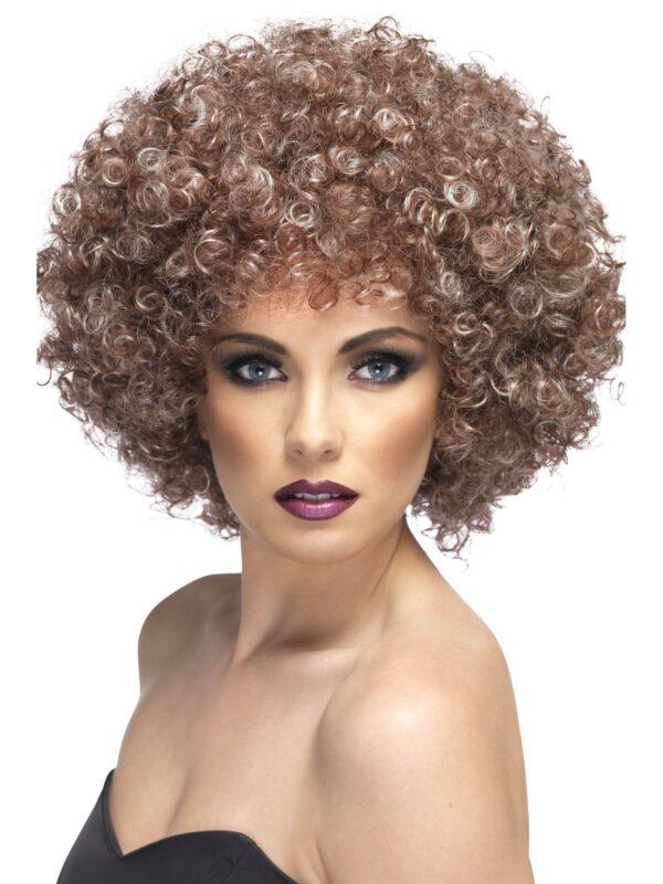 Afro Wig Natural Brown/Blonde Mega - Huge, 70's Disco Sunbury Costumes