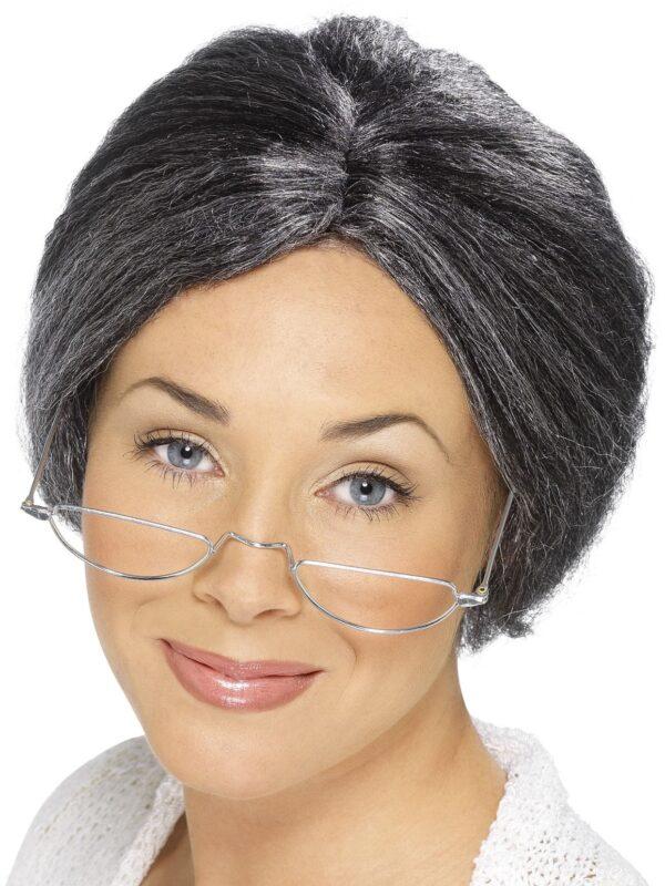 Granny Bun Wig, Grey Sunbury Costumes