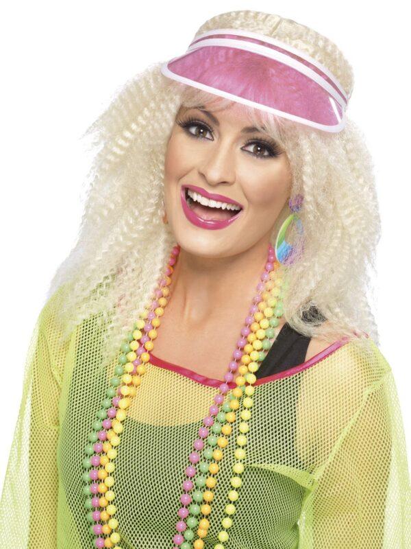 1980s pink poker visor 80s accessories sunbury costumes