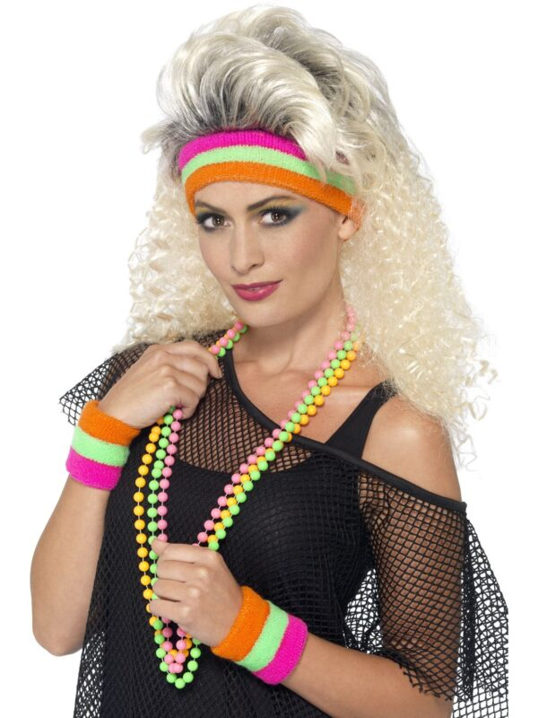 1980s neon sweatbands 80s accessories sunbury costumes