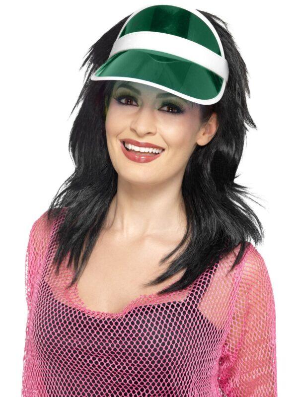 1980s green sun visor 80s accessories sunbury costumes