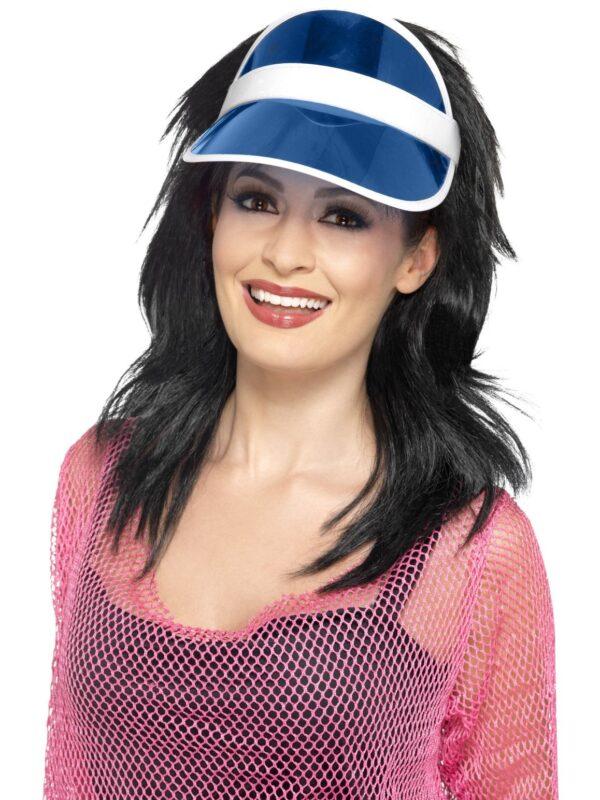 1980s blue sun visor 80s accessories sunbury costumes