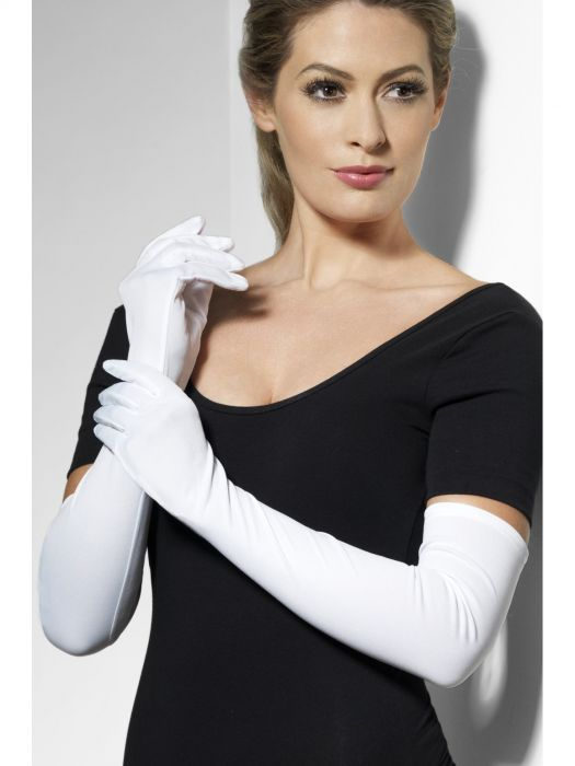 long plain white gloves debutante ball gloves sunbury costumes