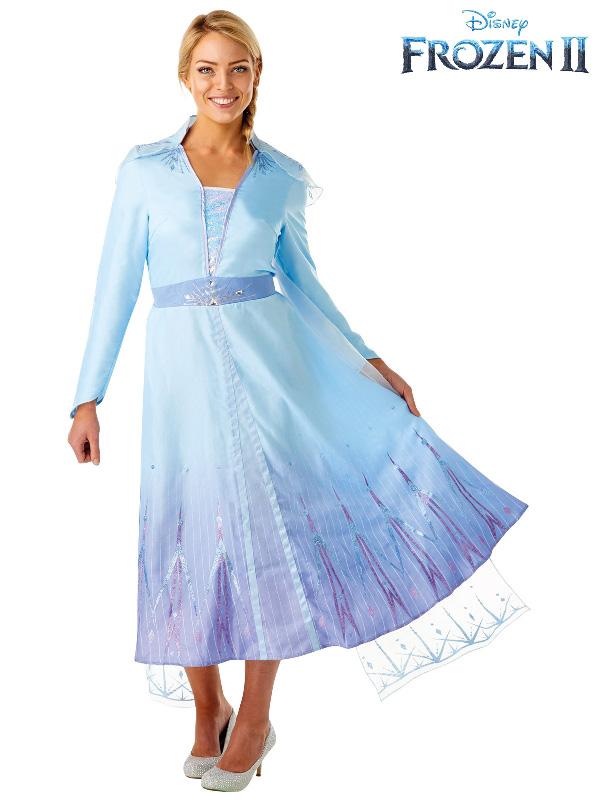 elsa costume frozen disney ladies blue ice queen dress sunbury costumes