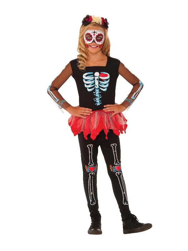 scared to the bone day of the dead halloween girls costume sunbury costumes