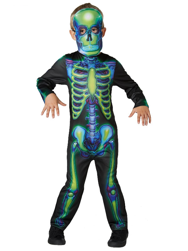 neon glow in the dark skeleton halloween costume sunbury costumes