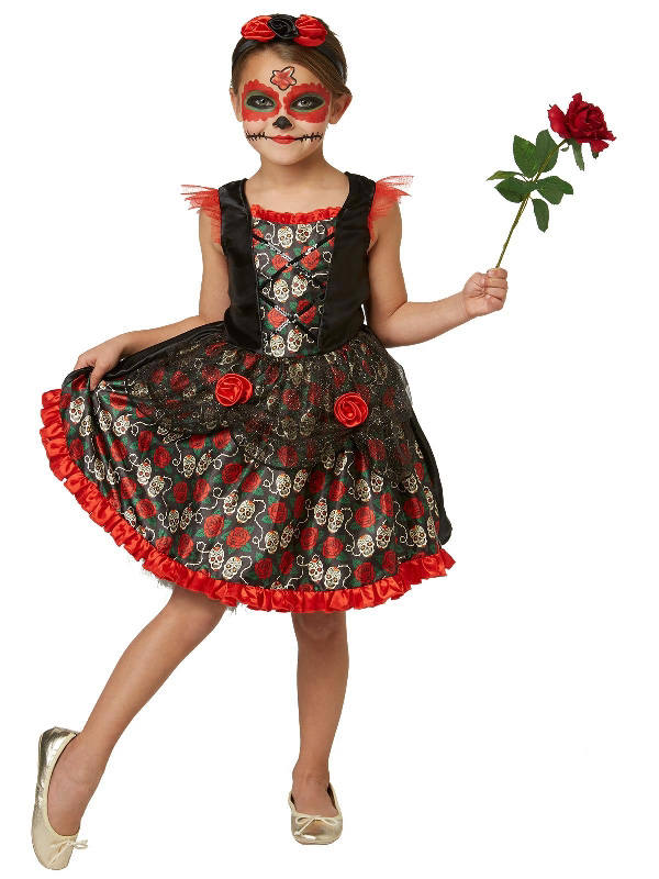red rose day of the dead halloween girl costume sunbury costumes