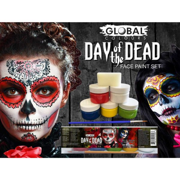 day of the dead global colours set 6 pack sunbury costumes