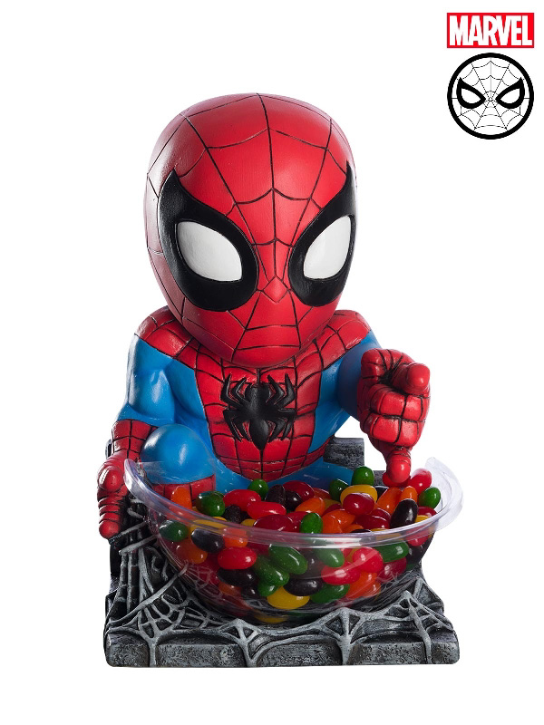 spiderman moulded mini statue marvel accessories candy bowl sunbury costumes