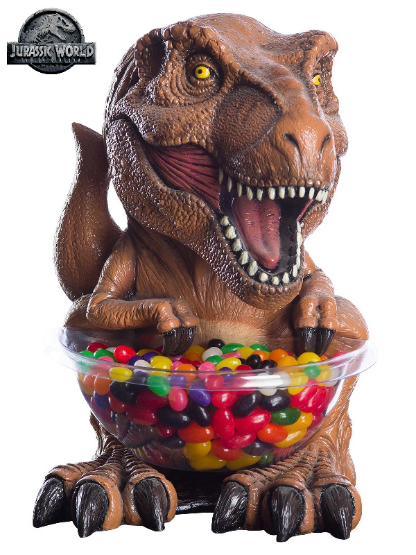 t rex jurassic world novelty moulded statue candy bowl sunbury accessories