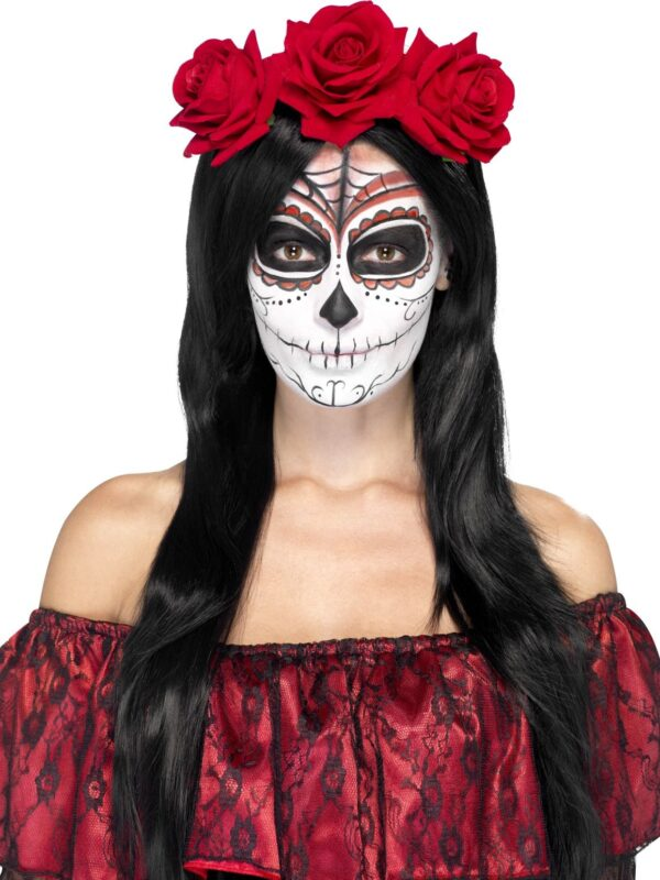 day of the dead roses headband halloween sunbury costumes