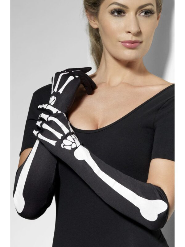 black skeleton long gloves halloween sunbury costumes