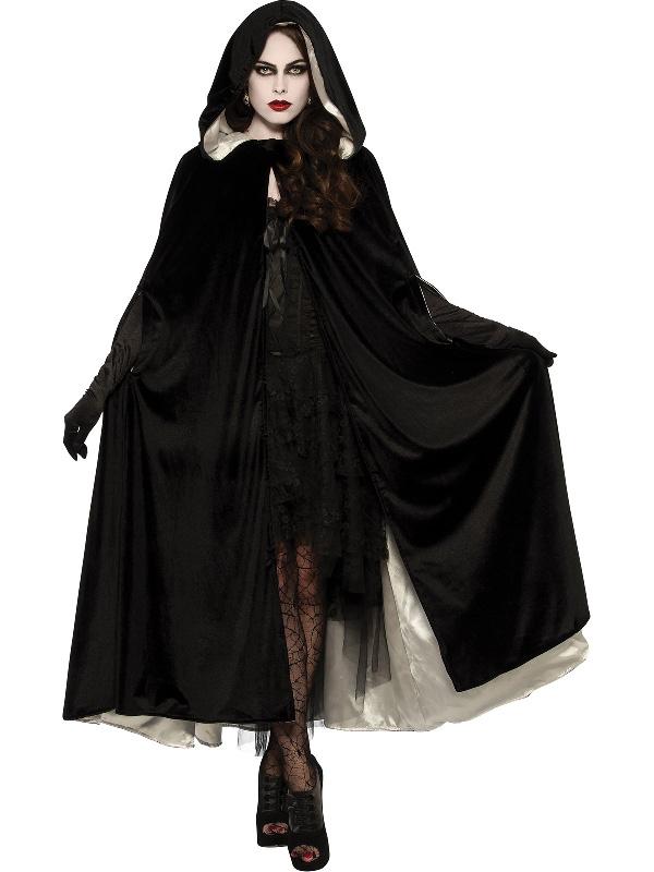 velvet cape reversible black and white halloween costume sunbury costumes