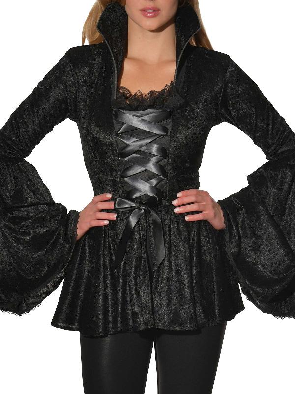 black crushed velvet costume top sunbury costumes