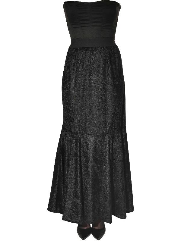 black long crushed velvet skirt sunbury costumes