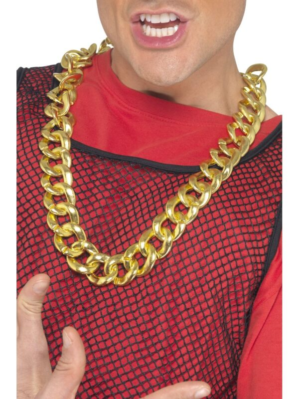 chunky gold necklace sunbury costumes