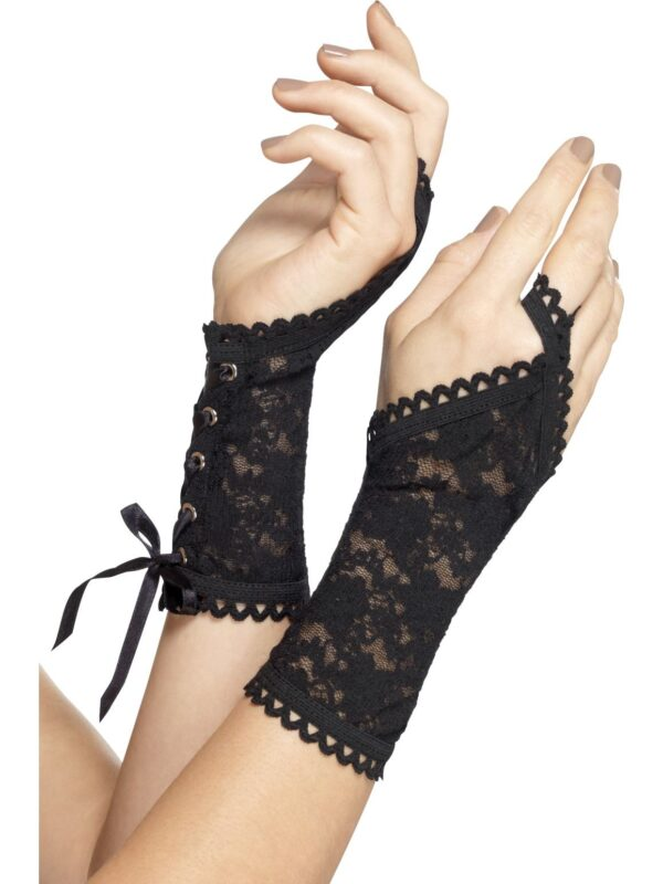 black lace glovettes sunbury costumes