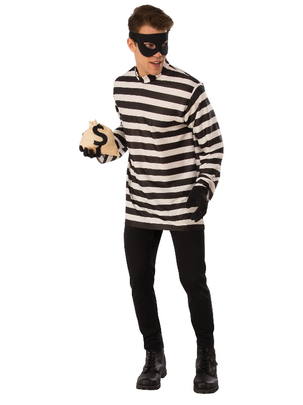 burglar black and white costume sunbury costumes