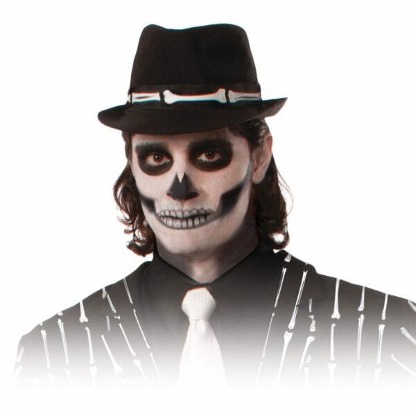 skeleton fedora halloween hat accessories sunbury costumes