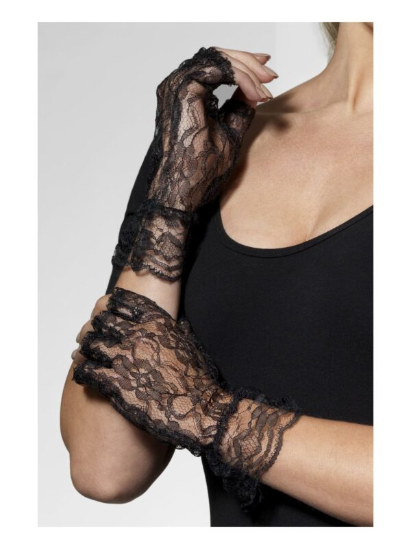 black lace short gloves sunbury costumes
