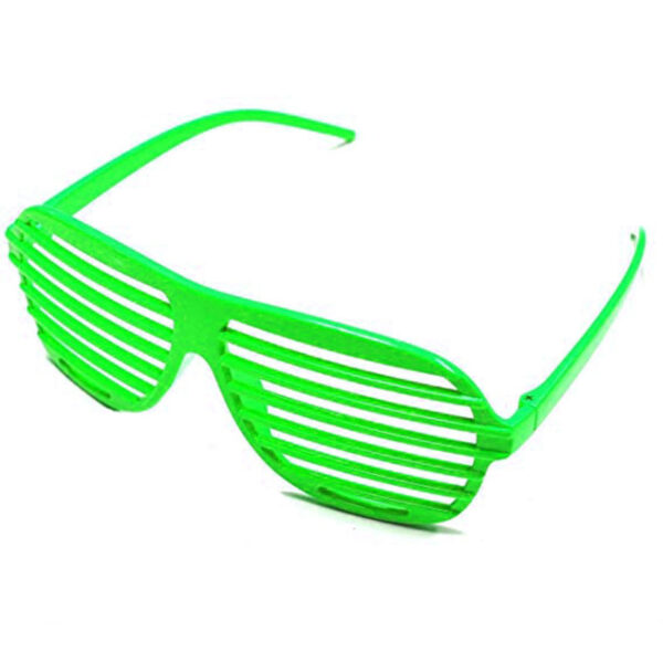 neon green 80s slot glasses sunbury costumes