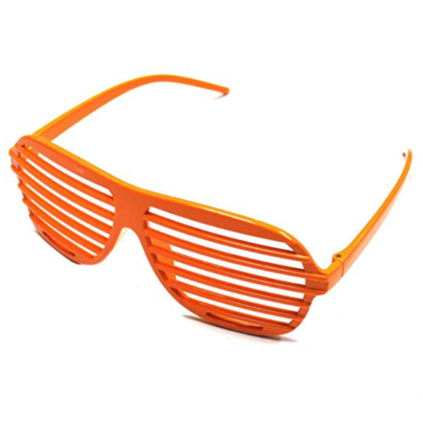 neon orange 80s slot glasses sunbury costumes
