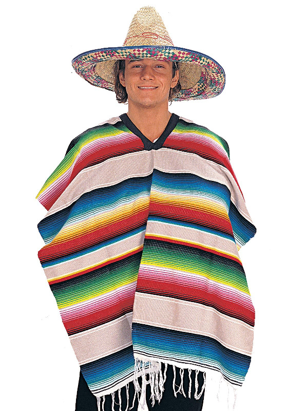 mexican poncho striped costume sunbury costumes