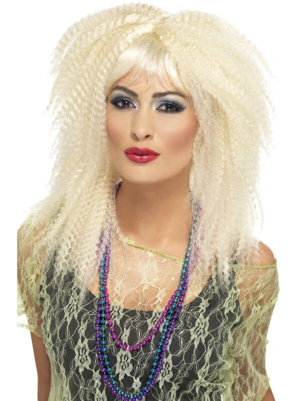 80s blonde crimped ladies wig sunbury costumes