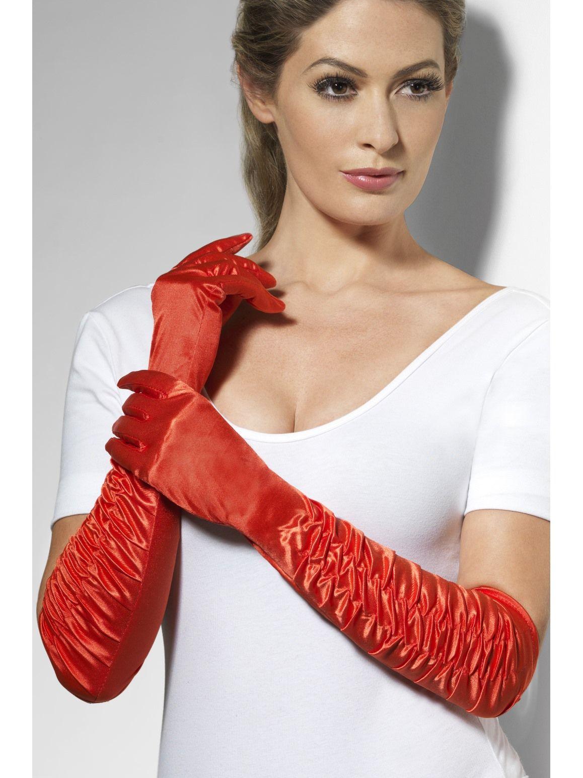 red long gloves sunbury costumes