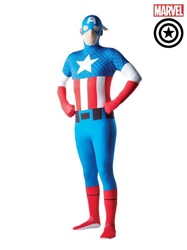captain america 2nd skin suit marvel adult costume sunbury costumes