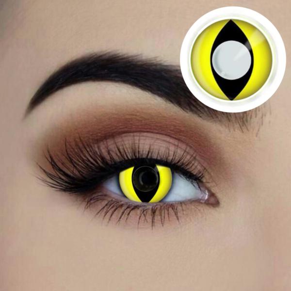 yellow cats eye coloured contact lens sunbury costumes