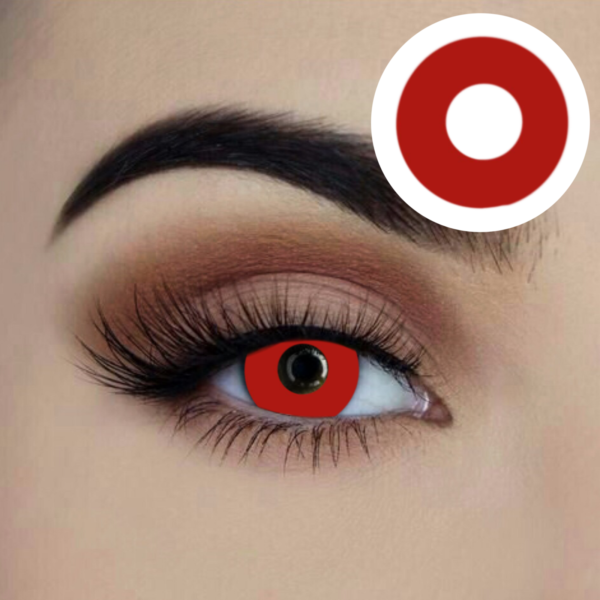 vampire red starry eyed coloured contact lens 1 year disposable lenses sunbury costumes