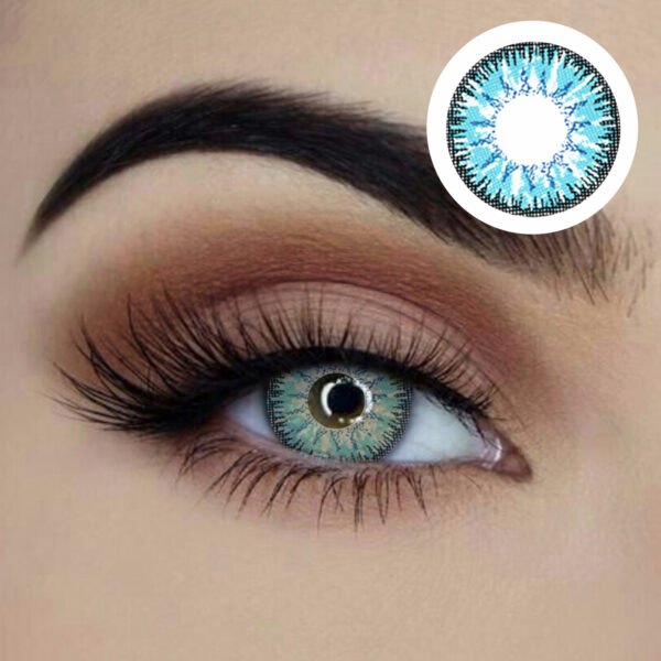 true sapphire starry eyed blue green 1 year disposable contact lenses sunbury costumes