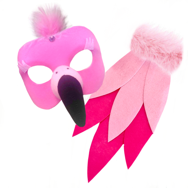 flamingo mask animal set sunbury costumes