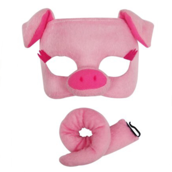 pig mask animal set sunbury costumes