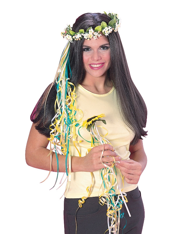 hippy hippie 60s hair accessories flowers sunbury costumes