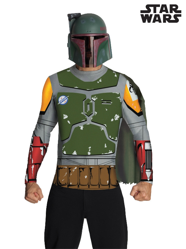 boba fett star wars adult costume top mask sunbury costumes