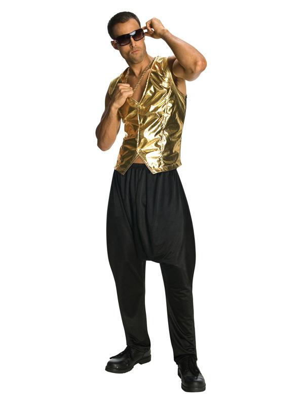80s disco gold vest rapper sunbury costumes