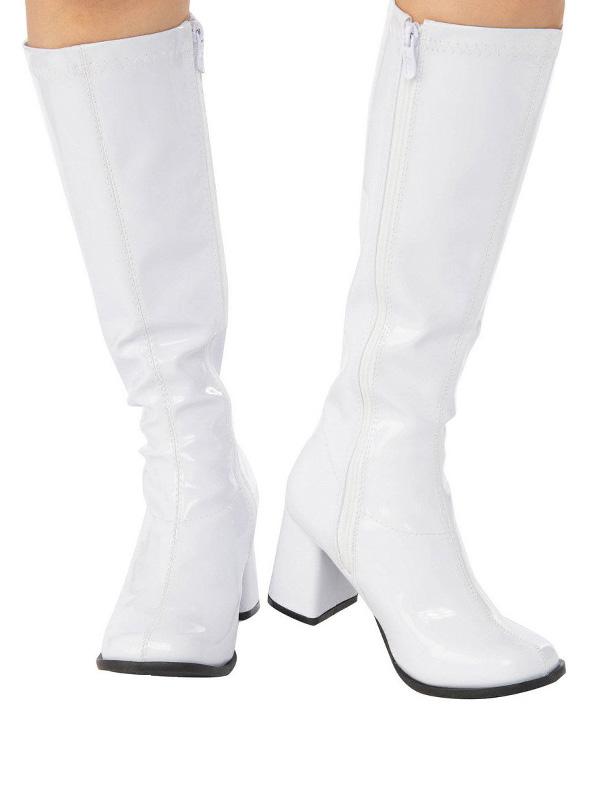 white go go boots 60s accessories hippy boots sunbury costumes