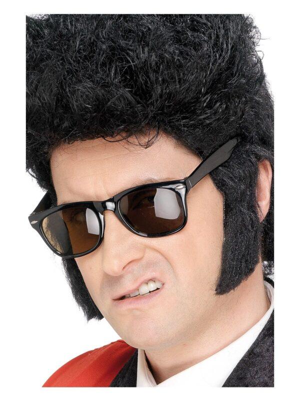 sideburns black self adhesive elvis accessories sunbury costumes